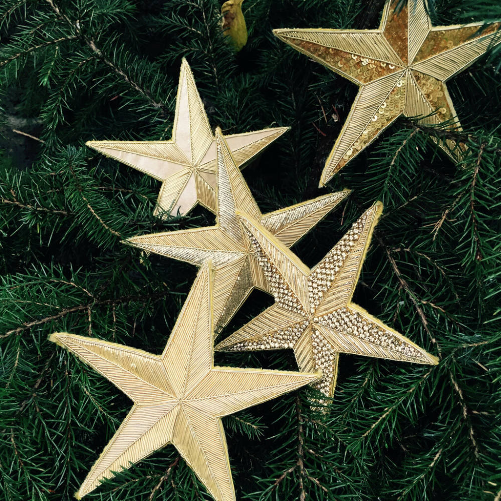 goldwork, gold work, chipping, cutwork, embroidery, Christmas, star, online class, kit