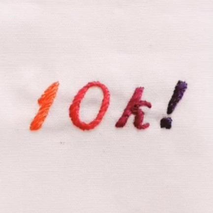 10k, monogram, followers, social media, letter, lettering