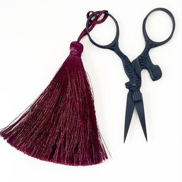 scissors, vintage scissors, snips, tassel, equipment, tools