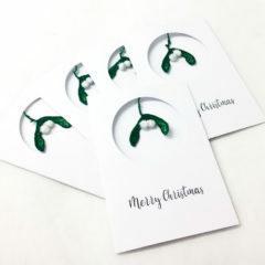 Christmas, card, mistletoe, offering, chirstmas offering