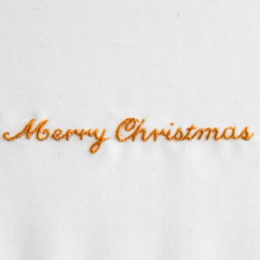 christmas, monogram, monogramming, lettering, embroidery, stitching