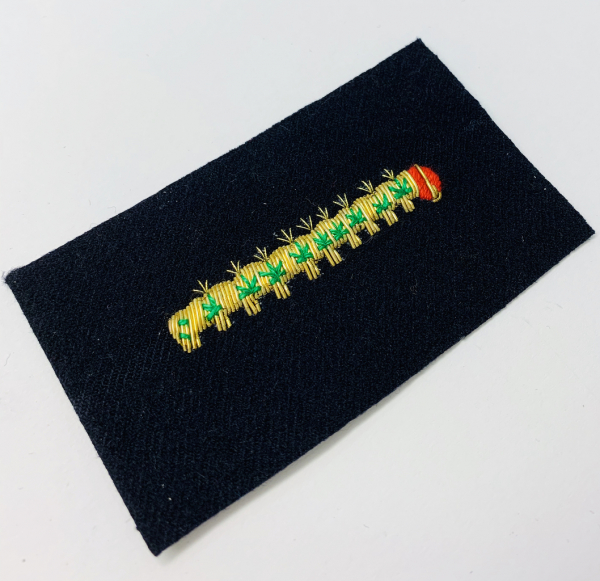 Caterpillar Club Blazer Badge, Gold Badge, Cap Badge,Blazer, badge, Cap, Cap Badge, Blazer Badge, Vintage badge, military, military badge, military button