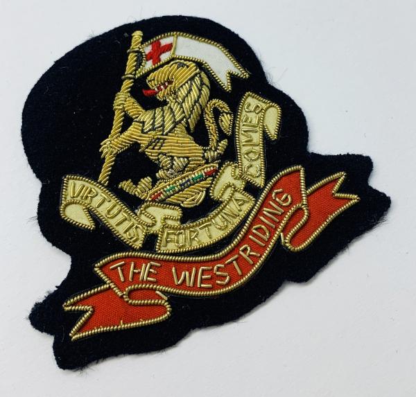 Duke of Wellingtons Own Regiment (West Riding) Blazer Badge, Gold Badge, Cap Badge,Blazer, badge, Cap, Cap Badge, Blazer Badge, Vintage badge, military, military badge, military button