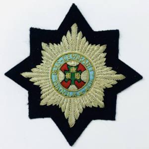 Irish Guards Blazer Badge, Gold Badge, Cap Badge,Blazer, badge, Cap, Cap Badge, Blazer Badge, Vintage badge, military, military badge, military button