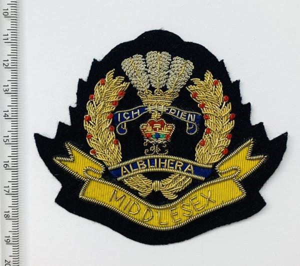 MIddlesex Regiment Blazer Badge, Gold Badge, Cap Badge,Blazer, badge, Cap, Cap Badge, Blazer Badge, Vintage badge, military, military badge, military button