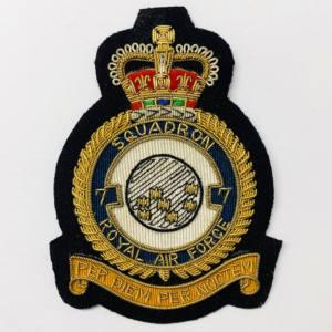 RAF 7th Squadron Blazer Badge, Gold Badge, Cap Badge,Blazer, badge, Cap, Cap Badge, Blazer Badge, Vintage badge, military, military badge, military button