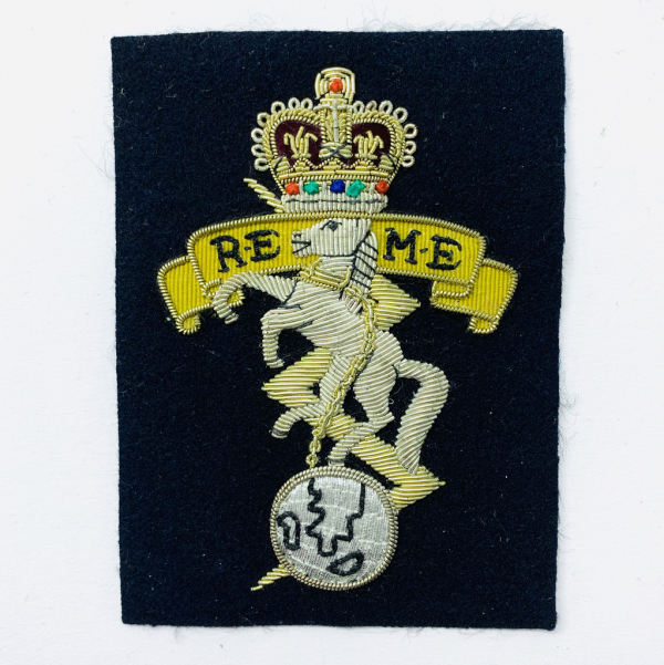 Royal Electrical & Mechanical Engineers Blazer Badge, Gold Badge, Cap Badge,Blazer, badge, Cap, Cap Badge, Blazer Badge, Vintage badge, military, military badge, military button