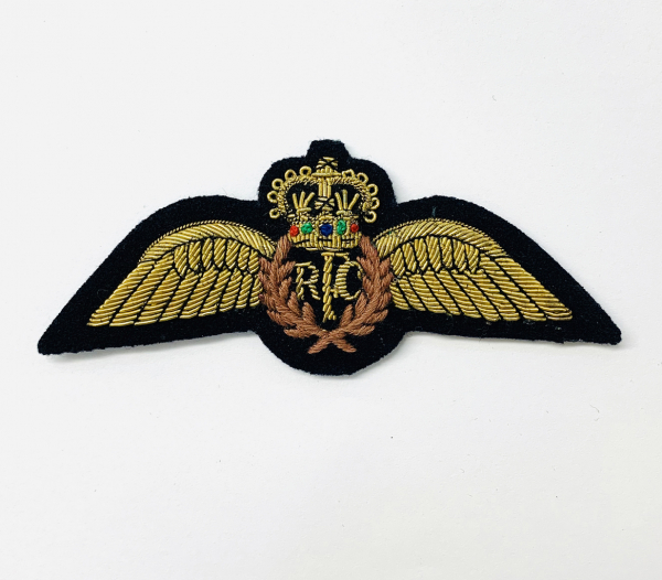Royal Flying Corps Blazer Badge, Gold Badge, Cap Badge,Blazer, badge, Cap, Cap Badge, Blazer Badge, Vintage badge, military, military badge, military button