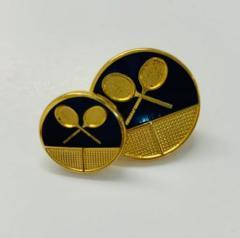 Tennis Buttons, button, gold button, military button, military, gold, label, embellishment, accessory