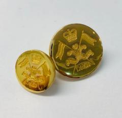 9th 12th Lancers Button, button, gold button, military button, military, gold, label, embellishment, accessory
