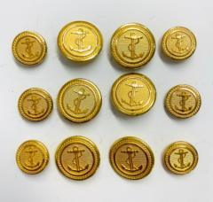Anchor Button, button, gold button, military button, military, gold, label, embellishment, accessory
