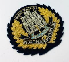 Northamptonshire Regiment Blazer Badge, Gold Badge, Cap Badge,Blazer, badge, Cap, Cap Badge, Blazer Badge, Vintage badge, military, military badge, military button