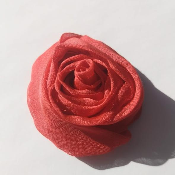 rose, Valentino rose, fabric rose, flower, floral red flower, tucking, fabric manipulation