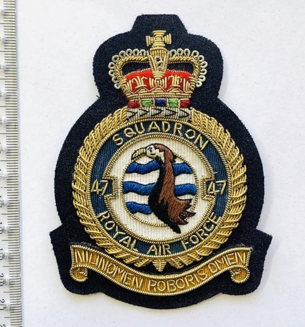 47th Squadron Blazer badge, badge, Cap, Cap Badge, Blazer Badge, Vintage badge, military, military badge, military button