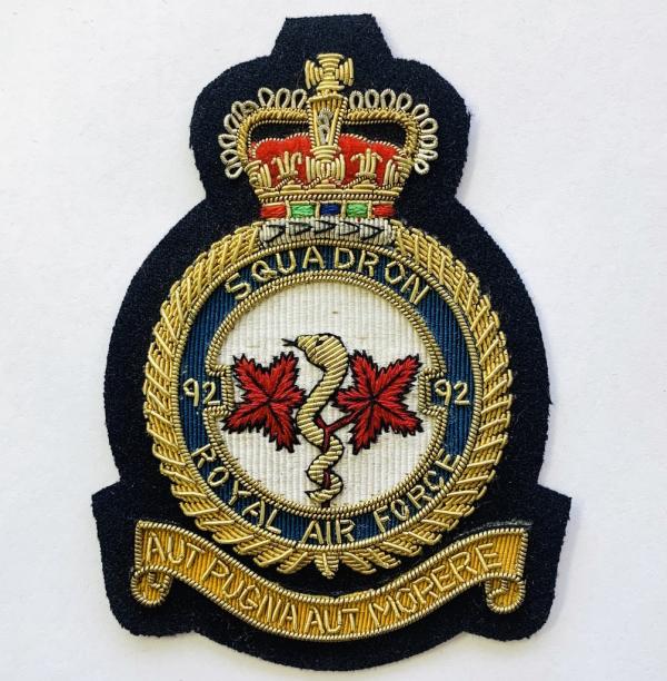 92nd Squadron Blazer badge, badge, Cap, Cap Badge, Blazer Badge, Vintage badge, military, military badge, military button