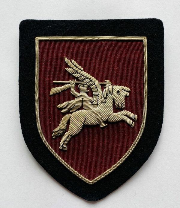 Airbourne Division Blaze Badge, Gold Badge, Cap Badge,Blazer, badge, Cap, Cap Badge, Blazer Badge, Vintage badge, military, military badge, military button