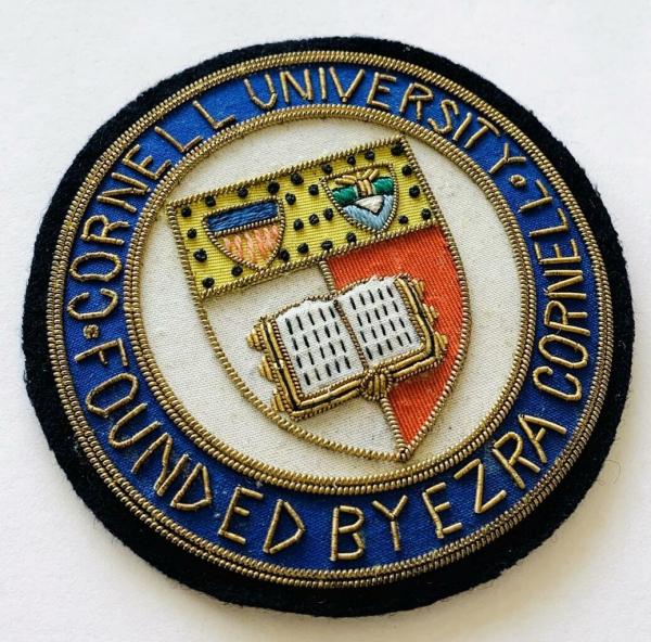 Cornell University Blazer badge, badge, Cap, Cap Badge, Blazer Badge, Vintage badge, military, military badge, military button