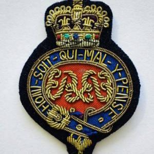 Grenadier Guards Cap Badge, Cap, Gold, Gold Badge, Cap Badge,Blazer, badge, Cap, Cap Badge, Blazer Badge, Vintage badge, military, military badge, military button