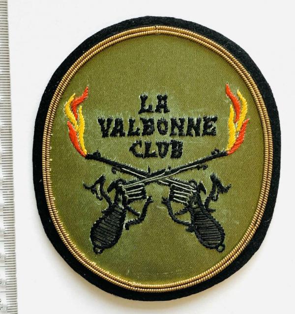 La Valbonne Club blazer badge, badge, Green Badge, Blazer Badge, Vintage badge, military, military badge, military button