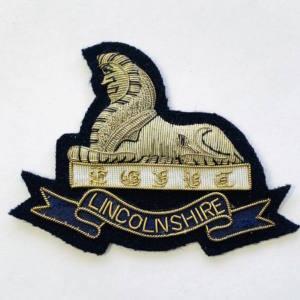 LinconInshire Regiment Blazer badge, badge, Cap, Cap Badge, Blazer Badge, Vintage badge, military, military badge, military button