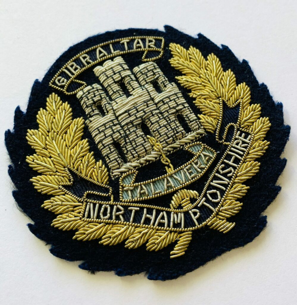 Northamptonshire Regiment Blaze Badge, Gold Badge, Cap Badge,Blazer, badge, Cap, Cap Badge, Blazer Badge, Vintage badge, military, military badge, military button