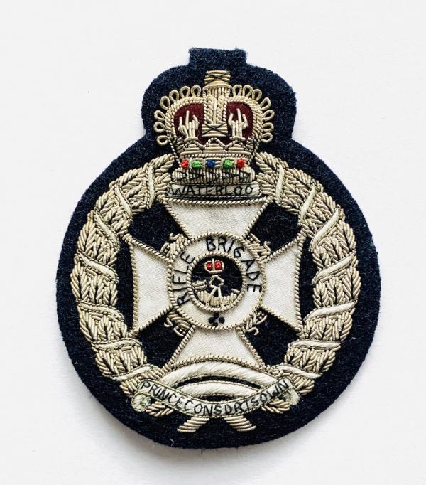 Rifle Brigade Blazer badge, badge, Cap, Cap Badge, Blazer Badge, Vintage badge, military, military badge, military button