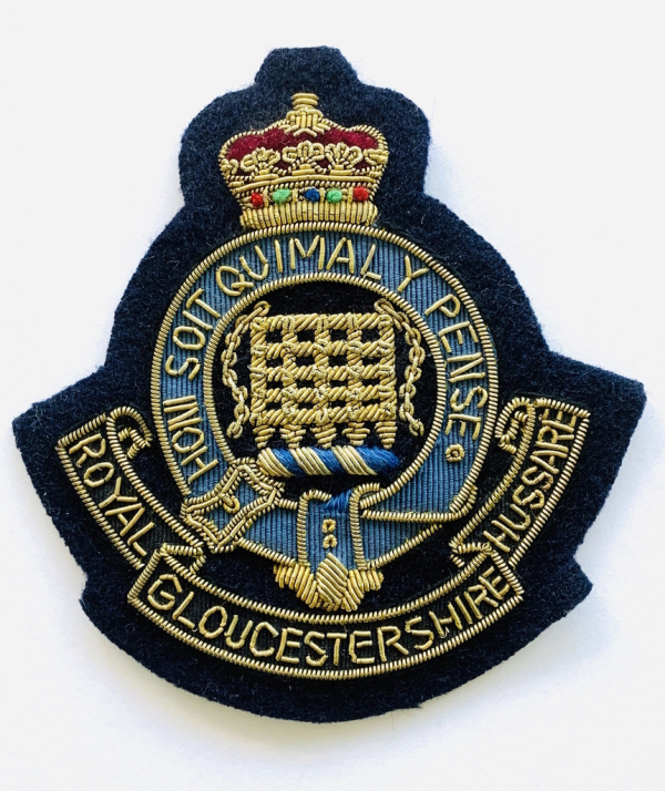 Royal Gloucestershire HussarsBlazer badge, badge, Cap, Cap Badge, Blazer Badge, Vintage badge, military, military badge, military button