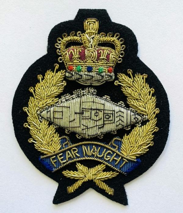 Royal Tank Regiment Blaze Badge, Gold Badge, Cap Badge,Blazer, badge, Cap, Cap Badge, Blazer Badge, Vintage badge, military, military badge, military button