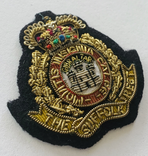The Suffolk Regiment Cap Badge, Cap, Gold, Gold Badge, Cap Badge,Blazer, badge, Cap, Cap Badge, Blazer Badge, Vintage badge, military, military badge, military button