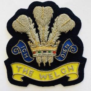 The Welch Regiment Blazer Badge, Blazer, Blazer Badge, Cap Badge,Blazer, badge, Cap, Cap Badge, Blazer Badge, Vintage badge, military, military badge, military button