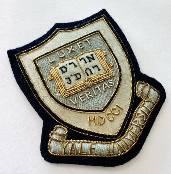 Yale University Blazer badge, badge, Cap, Cap Badge, Blazer Badge, Vintage badge, military, military badge, military button