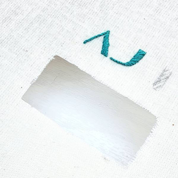 Monogram, Monogramming, Embroidery, Sewing, thread, Online Class, Green Lettering, Lettering