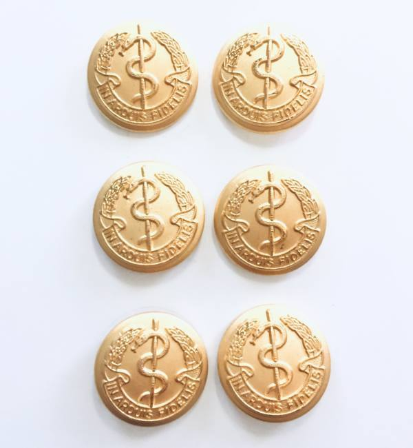 Button, Medical Button, Gold Button, Military, Military Button, Military Badge, Vintage, Embellishments, Accessories