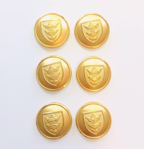 Button, Three Crown Button, Gold Button, Military, Military Button, Military Badge, Vintage, Embellishments, Accessories