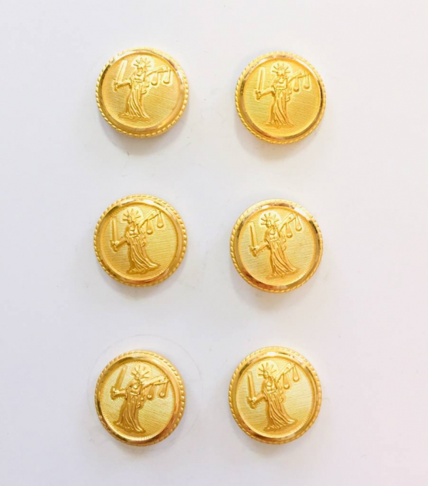 Button, Justice Button, Gold Button, Military, Military Button, Military Badge, Vintage, Embellishments, Accessories