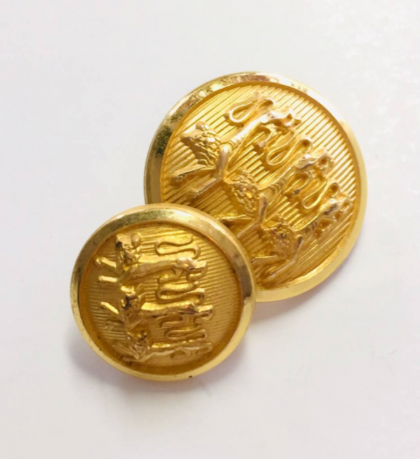 Button, Three Lion Button, Gold Button, Military, Military Button, Military Badge, Vintage, Embellishments, Accessories