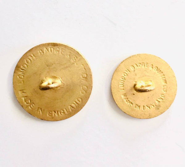 Button, Bull Button, Gold Button, Military, Military Button, Military Badge, Vintage, Embellishments, Accessories