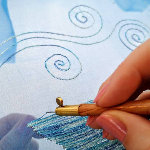 Tambour, Stitching, Embroidery, Tambour beading, Beaing, Sewing, Design development, Work In Progress, Textiles, Tambour Hook