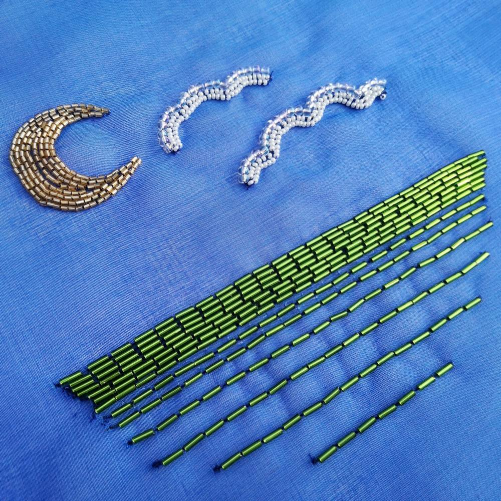 Tambour, Tambour Beading, Online Class, Beads, Beading, Design Outcome