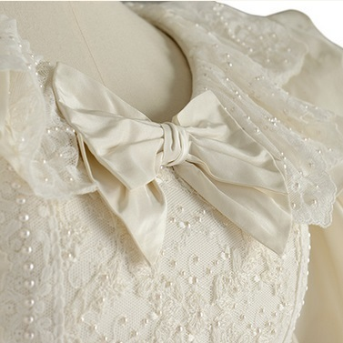 costume, wedding dress, bridal, embroidery, pearls, beads, vintage, the crown, royal, fashion, couture