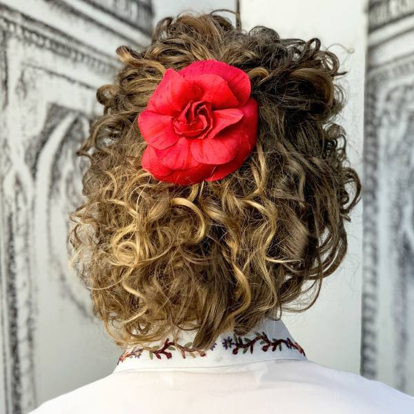 hair accessories, hair flower, rose flower, fabric rose flower, flower pins, outcome products, accessories, fabric manipulation flowers, red flowers, rose,