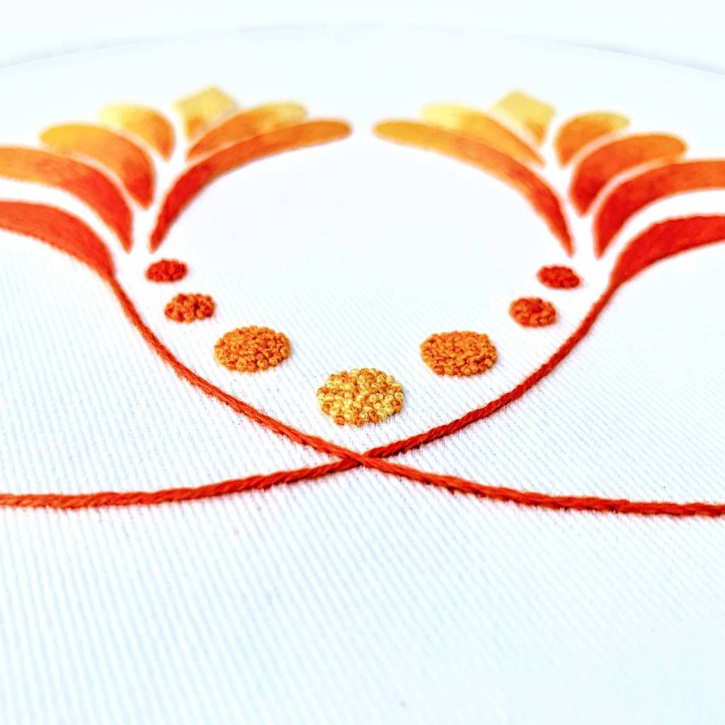 needle painting, silk shading , thread painting, long and short stitch