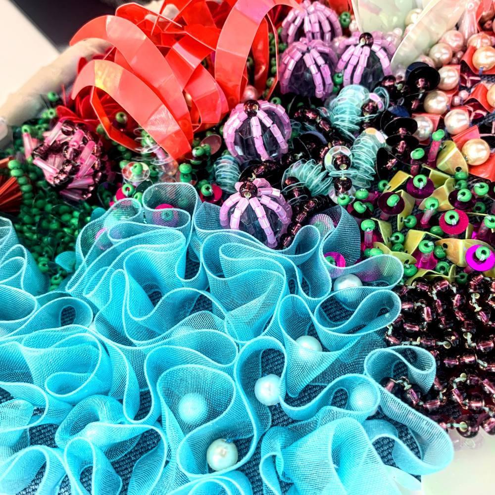 beads, sequins, beading, texture, textiles