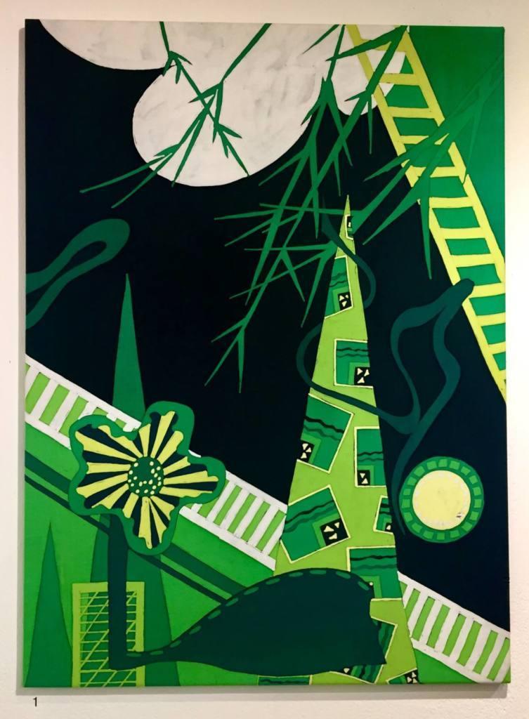 Annie Phillips, batik, dye, colour, green, exhibtion
