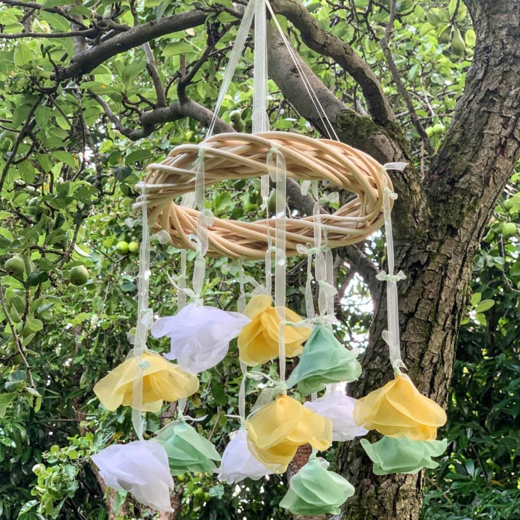 rose wreath, mobile kit, baby mobile, interior decoration, outside decoration