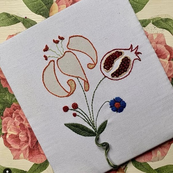 hand embroidery, learn embroidery, flower, stitching,
